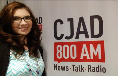 Dr Emily Blake at CJAD Radio